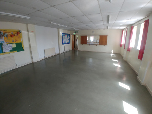 A photograph of one of the halls